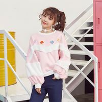 Princess sweet lolita Hoodies The cat Venice cashmere thermal head set sweet underwater world embroidery hoodie stitching VC11