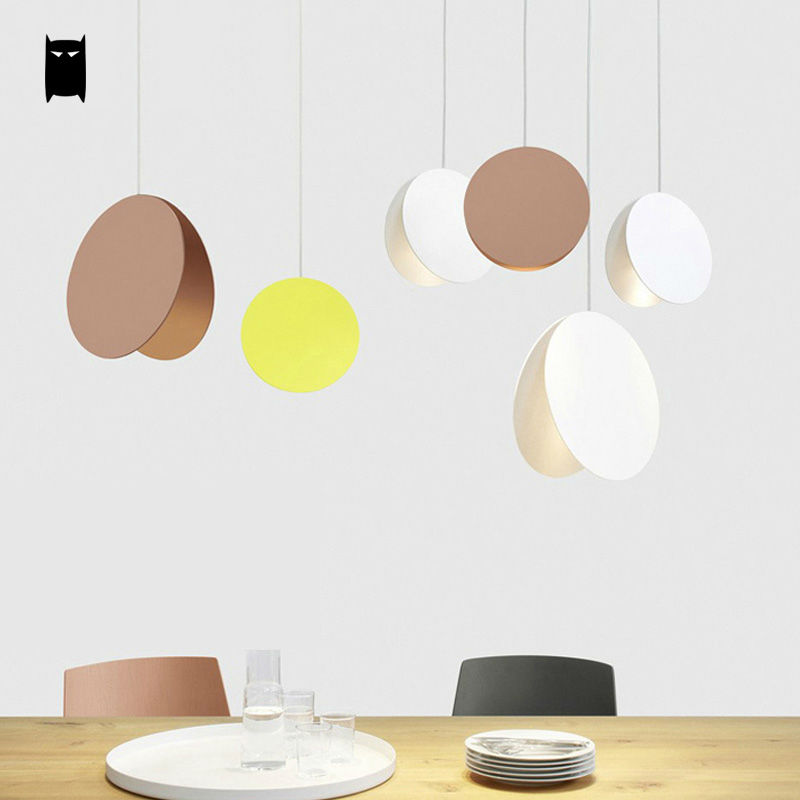 Yellow White Coffee Flying Disk Pendant Light Fixture Modern Art Deco Nordic Hanging Lamp Luminaria Design Dining Table Room Bar хайнер мюллер миссия