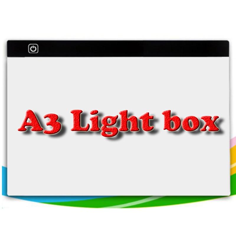 Malowanie diamentowa ściegu możliwość przyciemniania Ultra cienkie A3 światła LED Tablet Pad stosuje się do wtyczki USB diament hafty robótki mozaika narzędzia w Diamentowy obraz ścieg krzyżykowy od Dom i ogród na  Grupa 1
