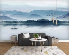 beibehang Custom wall paper Nordic modern minimalist hand-painted tropical rainforest background decorative painting wallpaper