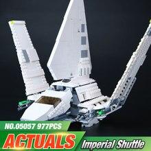 Lepin 05057 937 Sztuk New Star War Series Imperial Shuttle zestaw Zestaw Modelu Budynku Bloki Cegieł Zabawki Kompatybilny Prezent Z 75094