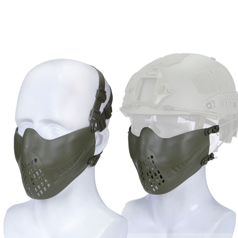 Half Face Tactical Airsoft Mask Outdoor Military Shooting Paintball Mask Protective For Men Women Tactical Sports Masks