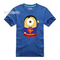 Minions Superman camiseta 7 colores hombres camiseta cómica de la historieta película camiseta geek superhéroe camiseta