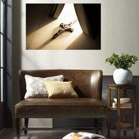 Jezus Światła Książka Biblia Krzyż Obraz Malarstwo Plakat I Druku Rocznika Dekoracji Płótnie Malarstwo Dla Living Room Wall Art