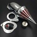 Envío libre de la motocicleta del mercado de accesorios piezas de Pico filtro aire para Kawasaki Vulcan 800 Classic 1995-2012 CROMO