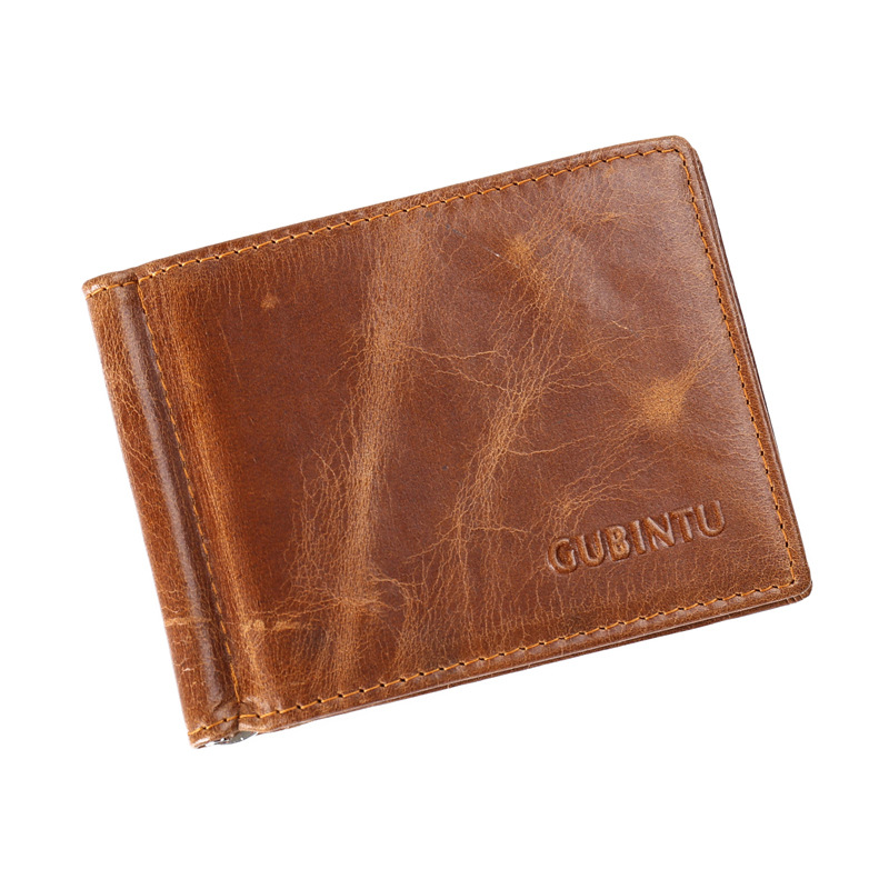 Thin Minimalist Front Pocket Wallets for Men Money Clip - Made From Full Grain Leather Bifold Slim Genuine Leather Wallets