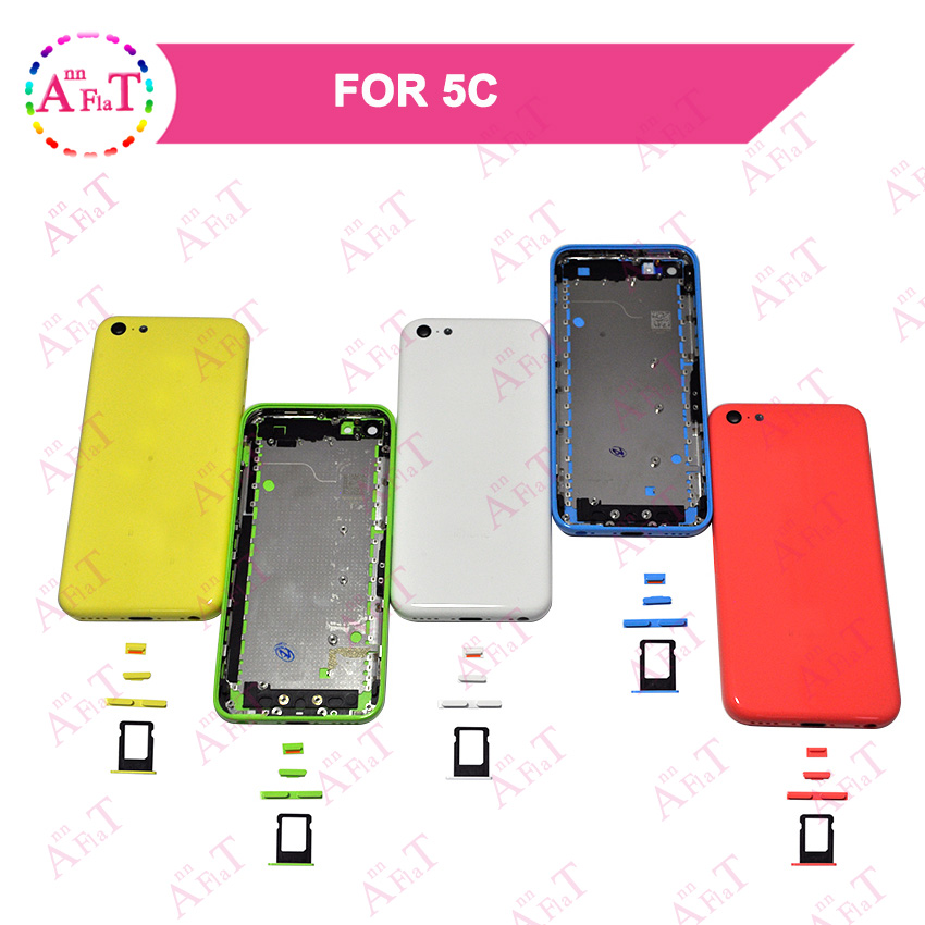 10Pcs lot AAA For IPhone 5C SE Housing Battery Cover Door Rear Cover Chassis Frame Back