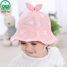 Spring Summer Baby Girl Hat Sweet Kids Cap for Girls Baby Hat Princess Colorful Baby Cap Prints Flower Baby Hats HAT03