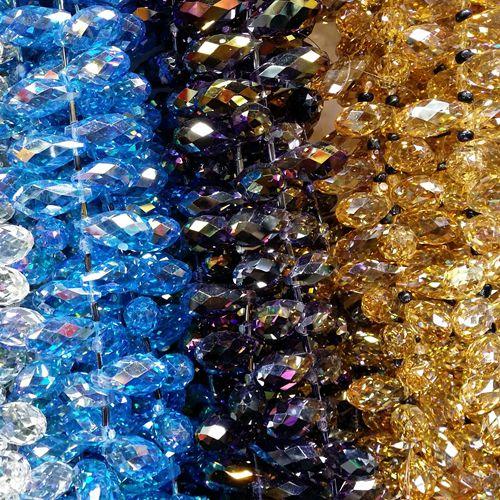 1 Strand verre Bobine biconique Perles-Golden Rod Amber éclat 4 mm