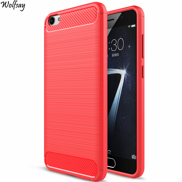 "Wolfsay For Phone Cover BBK Vivo X7 Case Rubber Silicone Phone Case For BBK Vivo X7 Phone Cover Luxury Fundas For Vivo X7 5.2"""