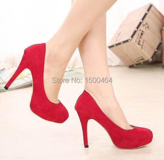 Tacon Rojos Mujer Tacones Aguja En Alto De 3 Zapatos moda Rojos RqAjc345L