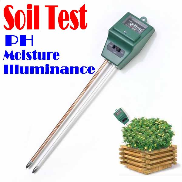 BY DHL OR EMS 50 pieces 3 in 1 Plant Flowers Soil Test Kits PH Tester