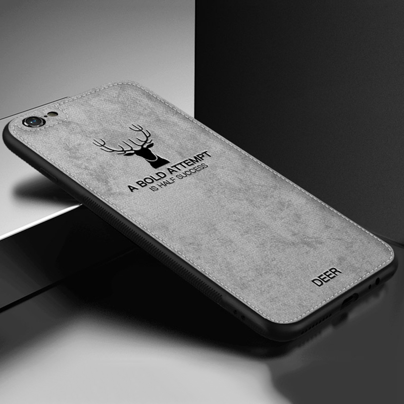 KIP71169G_1_JONSNOW For iPhone 7 Cloth Texture Leather Soft TPU Case for iPhone X Phone Cover Case for iPhone 6 6S 7P 8 Plus