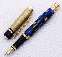 Kaigelu 336 大理石セルロイド万年筆ペンイリジウムミディアムペン先、美しいブルーパターン書き込みギフトペンオフィスビジネス用品