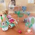 2017 Новое лето Компьютерный зал для barbie doll, кукла Мебель Бесплатная доставка