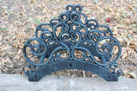 Wrought Iron New Garden Hose Rack Holder Scrowl Outdoor Decorative Hose Reel Hanger Cast Iron Antique