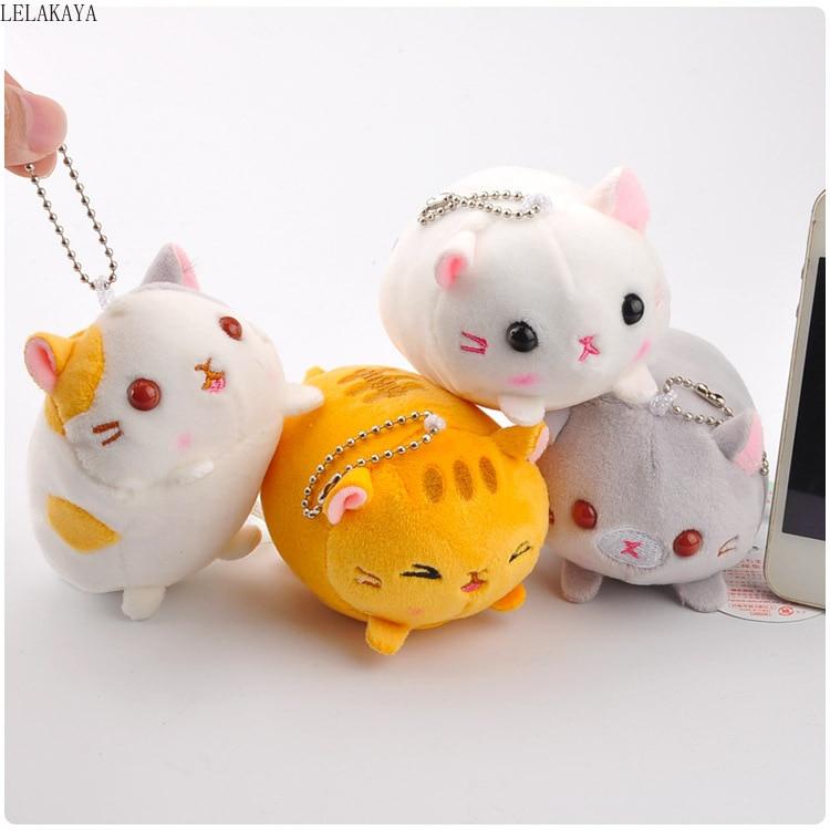 1pcs Japan Anime Plush Animals Cartoon Fashion Creative Soft Stuffed 3-inch Boots Cat Plush Cute kittens Keychain Pendants toys