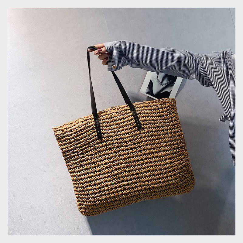 Casual Personalized Female Woven Handbag Handbag Summer Beach Bag Large Capacity Totes Women Shoulder Bags Casual Fashion Bag(China)