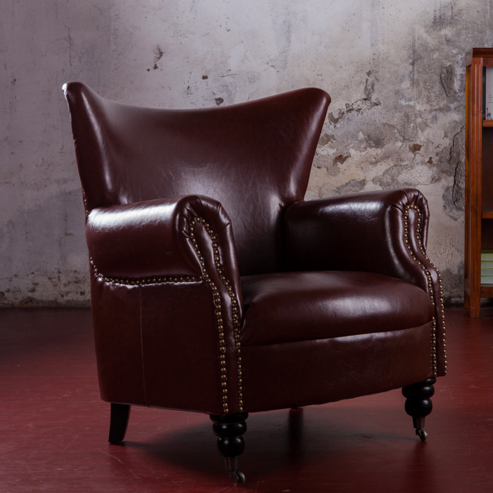 US $589.0 |Retro Vintage Style sofa lounge chairs armchair living room  furniture with casters-in Living Room Sofas from Furniture on  Aliexpress.com | ...