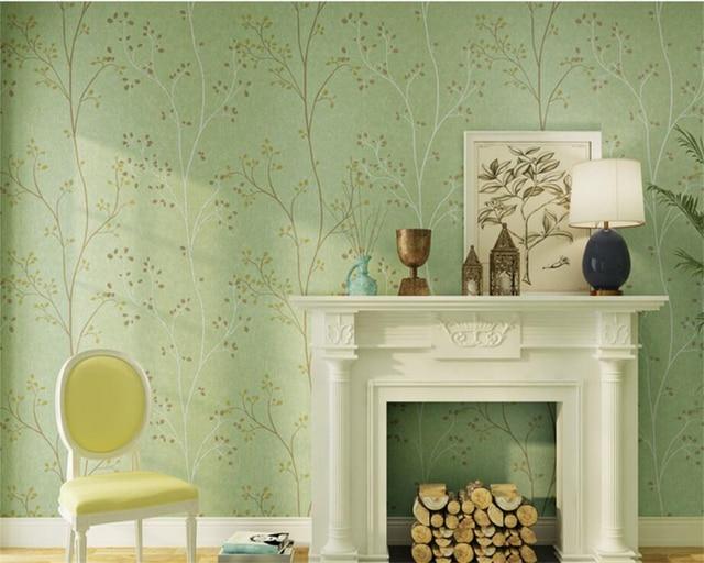 Beibehang Tapety Retro Vert Fonce Jaune Papier Peint Chaud Chambre