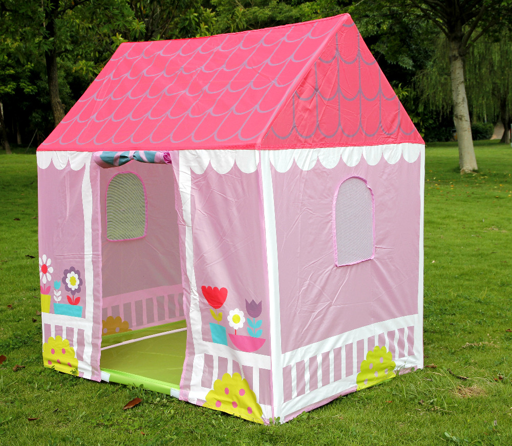 Girl Play Tent Castle Princess House Foldable Playhouse Outdoor Indoor Tents -in Toy Tents from Toys u0026 Hobbies on Aliexpress.com | Alibaba Group & Girl Play Tent Castle Princess House Foldable Playhouse Outdoor ...