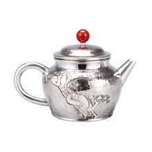 Pure Silver Teapot Single Pot Household Kung Fu Tea Ceremony Handmade 999