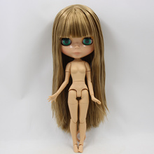 ICY Neo Blythe Doll Brown Straight Hair Jointed Body 30cm