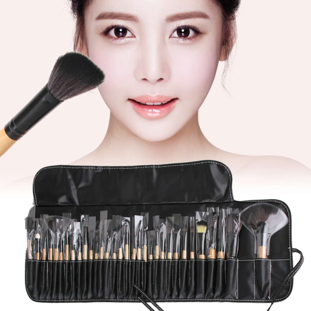 Durable 32pcs Soft Makeup Brushes Cosmetic Concealer Blusher Powder Foundation Eye Shadow Blush Big Fan Brush Makeup Brush Tools soft professional makeup brushes flawless blush blusher powder liquid foundation cosmetic beauty salon tools