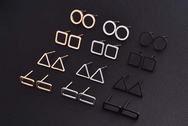 2 pair New Fashion Punk Simple T Bar Earrings For Women Ear Stud Earrings Jewelry Geometry brincos bijoux 8112