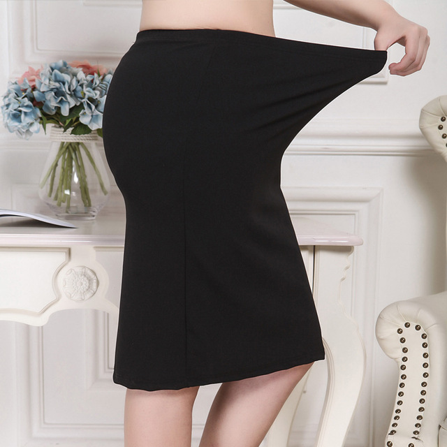 XL-8XL Plus Size Women Summer Skirts Casual Black Large Size Office Ladies Work Skirt Faldas 6XL 7XL Stretch OL Skirt Clothings 4
