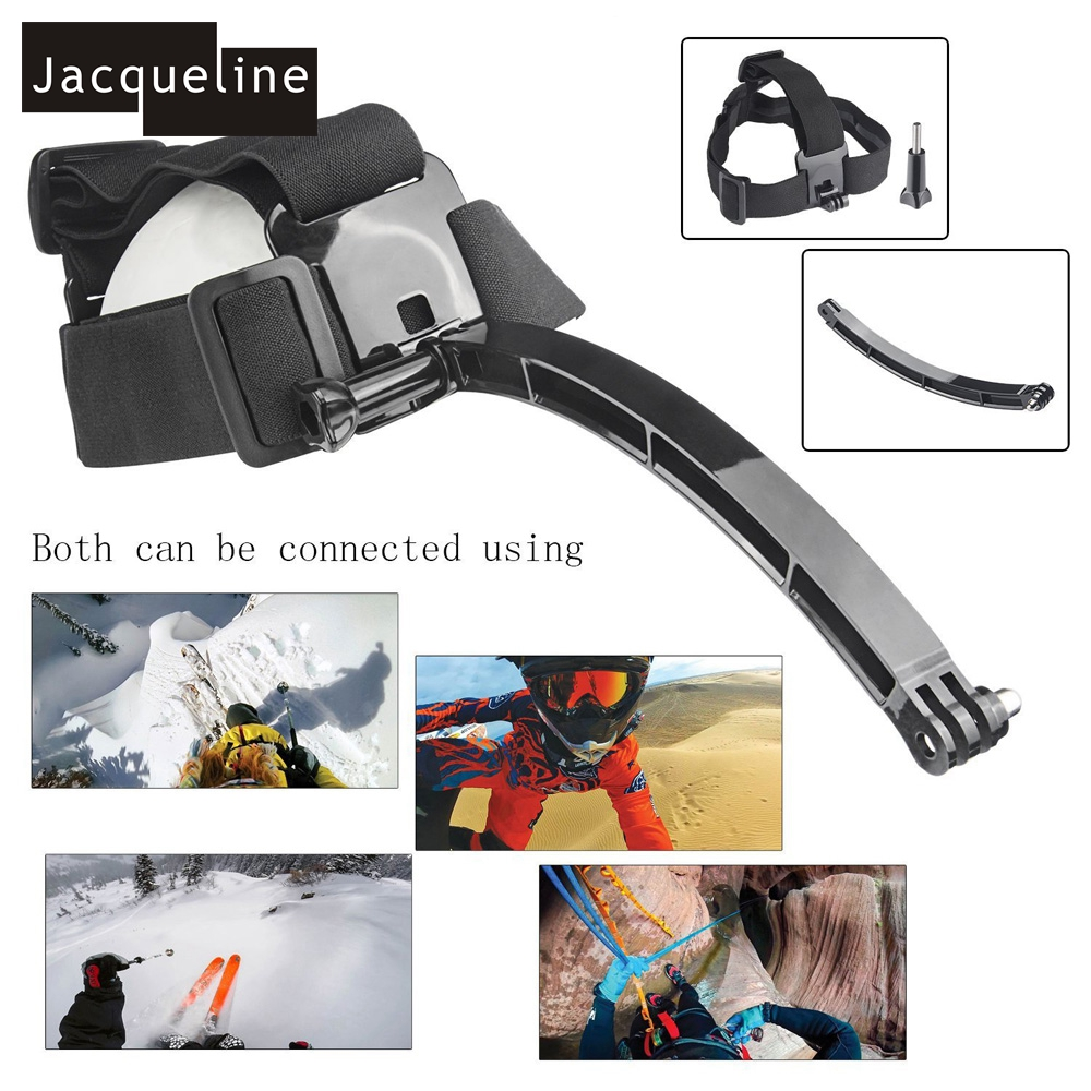Conjunto de accesorios para go pro hero 6 5 4 3 kit selfie stick monopod para Eken h8r h9r para xiaomi yi caso de EVA - 3