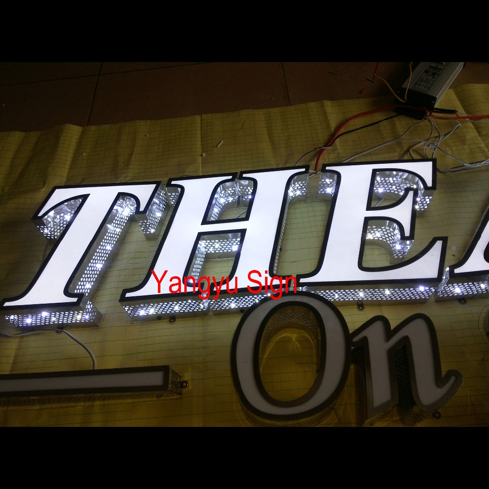 Outdoor LED mobile phone shop names glow sign boards