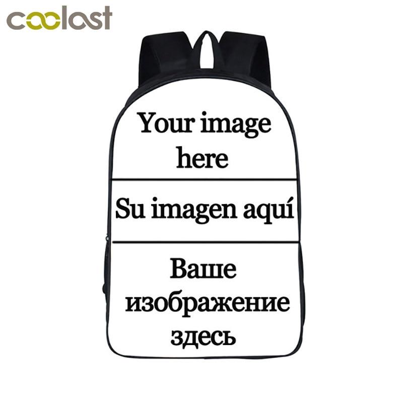 Anpassen die bild Rucksack Frauen Männer Reisetaschen Anime Kinder Schule Taschen Rucksack Jungen Mädchen Buch Tasche kinder Geschenk Rucksäcke