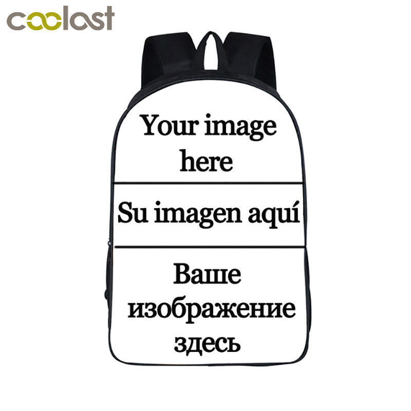 Customize the image Backpack Women Men Travel Bags Anime Children School Bags Backpack Boys Girls Book
