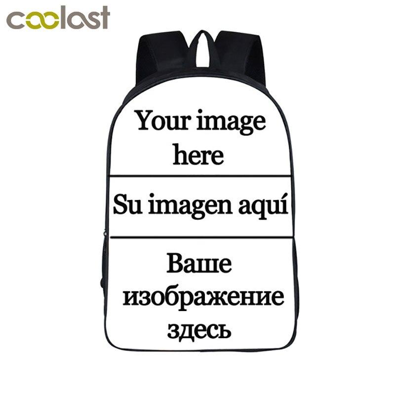 Customize The Image Backpack Women Men Travel Bags Anime Children School Bags Backpack Boys Girls Book Bag Kids Gift Backpacks