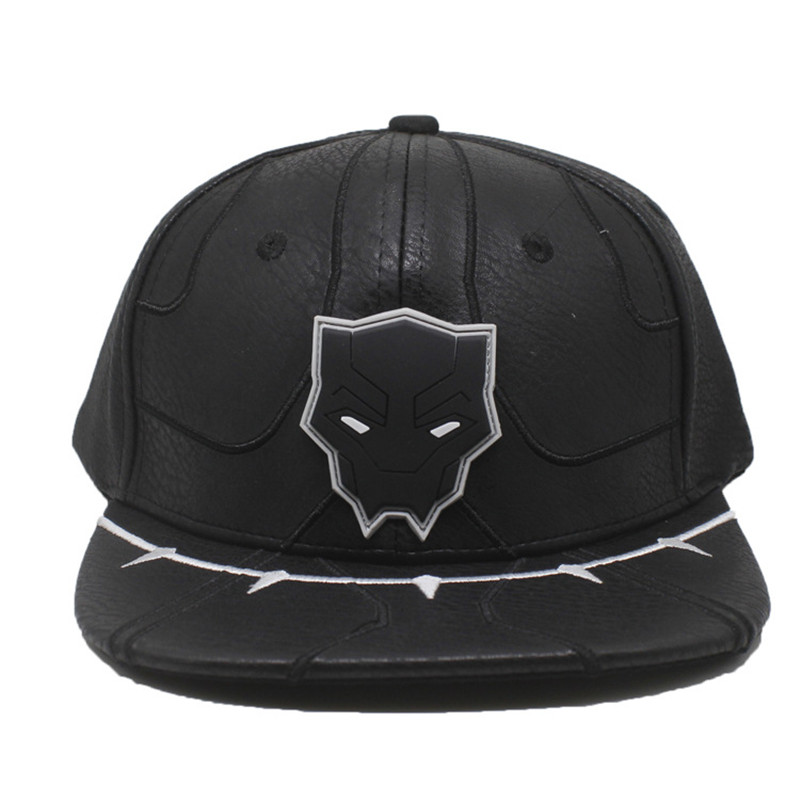 Takerlama 2018 Movie Black Panther Cosplay Hats Suit up Adjustable Snapback Baseball Caps Hip Hop Hat For Men Women Gifts