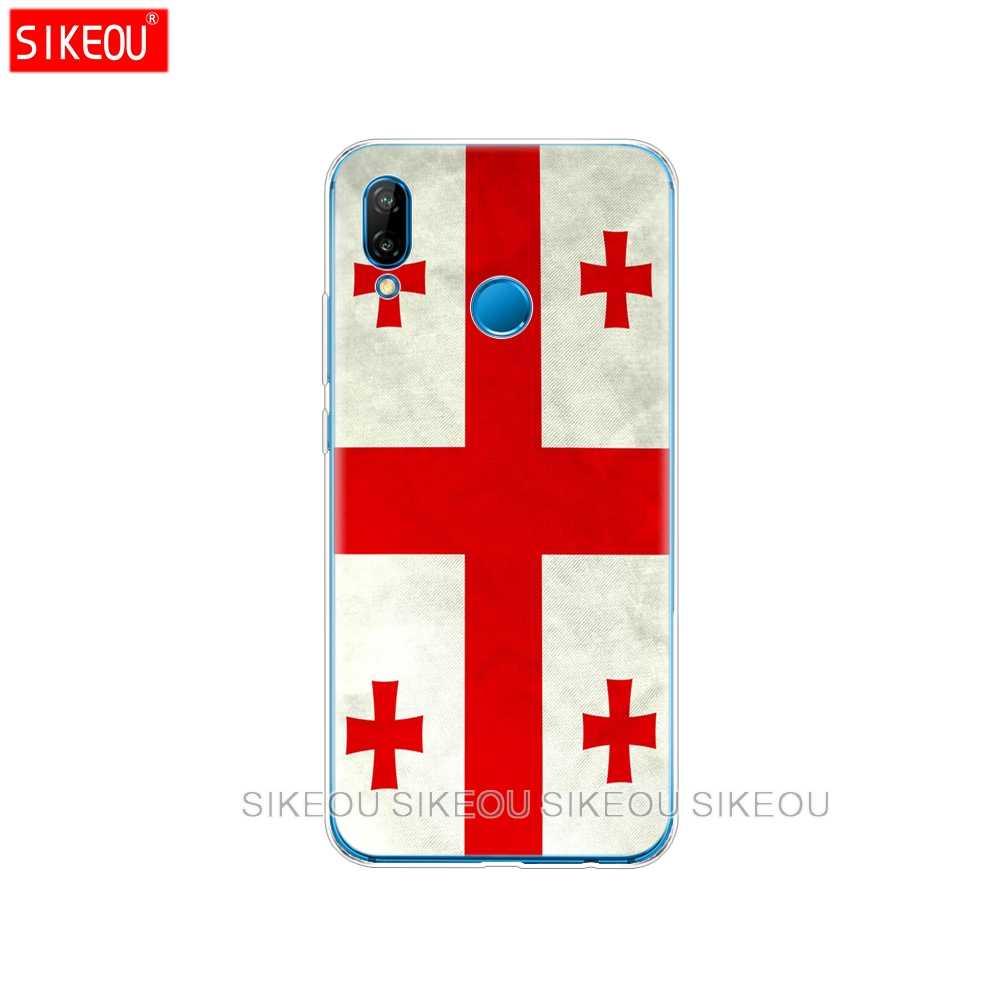 シリコンカバー携帯電話ケース Huawei 社 P20 P7 P8 P9 P10 Lite プラスプロ 2017 1080p スマート 2018 旗グルジアリトアニアベラルーシ