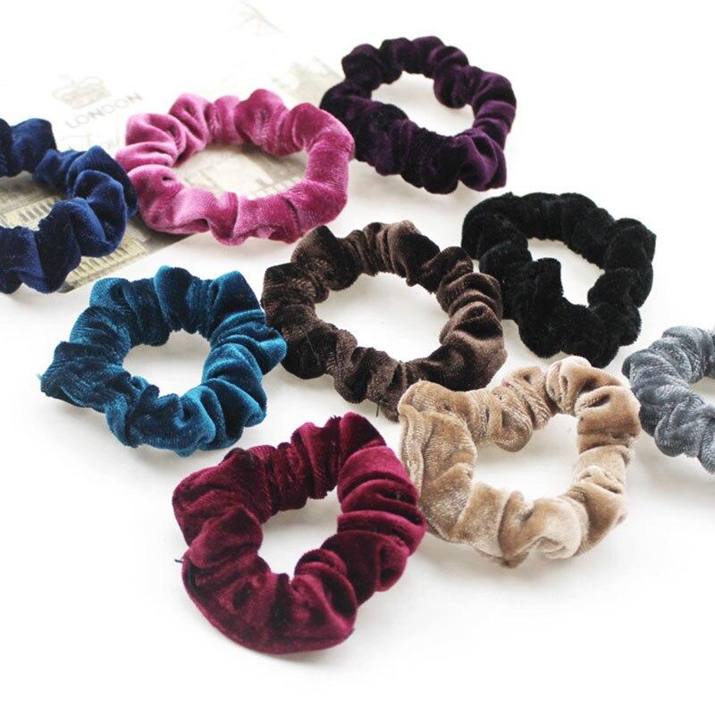 Cute Women Elastic Accessories Party Hair Scrunchies Ponytail Holder Scrunchy Hairband Hair Accessories