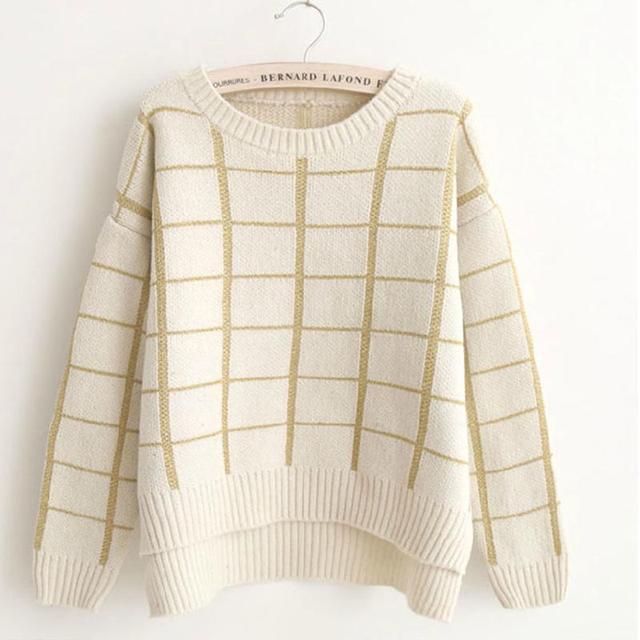 Para Mujer de punto suéteres jerseys Mujer moda tejer suéter de ...