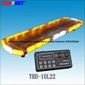 TBD-10L22 светодиодный автомобильный световой бар, янтарный и белый аварийный предупреждающий световой бар, водонепроницаемый, для скорой помо...