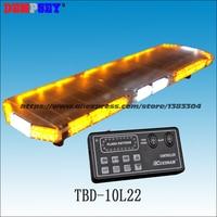 TBD 10L22 LED car Lightbar, amber&white emergency warning light bar ,waterproof, for ambulance/fire truck/police/ vehicle