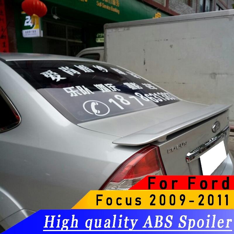 For FOCUS Sedan 2009 2010 2011 rear spoiler High quality ABS rear wing spoiler primer DIY