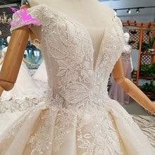 AIJINGYU suknia ślubna zroszony wspaniały kup projektant dostaw cena dla nowożeńców turcja suknia Curvy zimowe suknie ślubne
