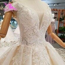 Aijingyuウェディングドレスビーズワンダフル購入デザイナー用品ブライダル価格七面鳥ガウン曲線美冬のウェディングドレス