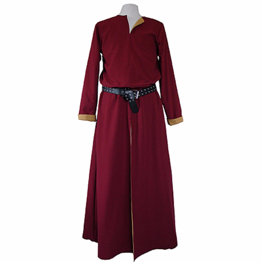 Cosplaydiy Custom Made Friedrich Bordeaux Red Cosplay Costume Medieval Mens Toudor Cosplay Costume L0516 cosplay red