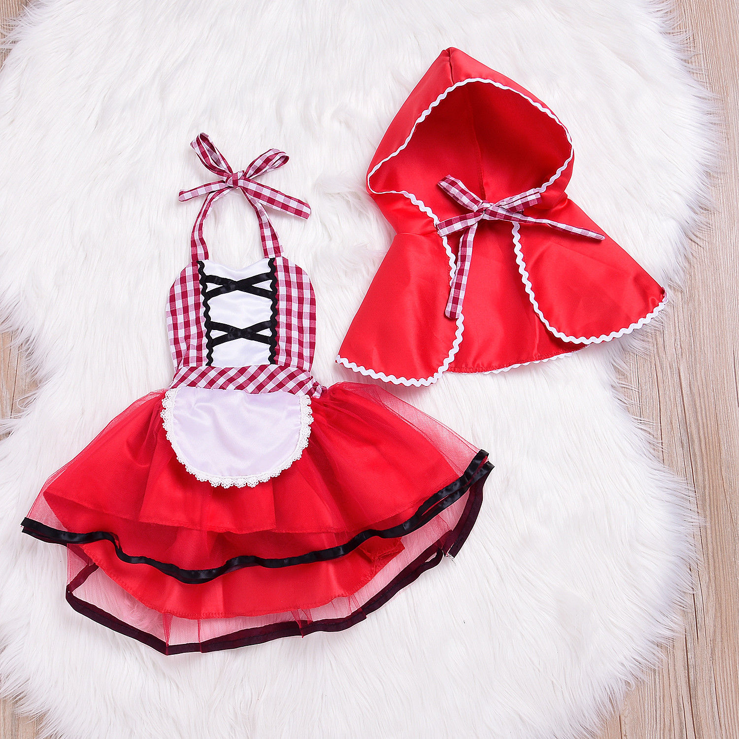 bb20f0c6397e PUDCOCO Newest Girl Baby Toddler Cute Red Xmas Little Princess Red ...