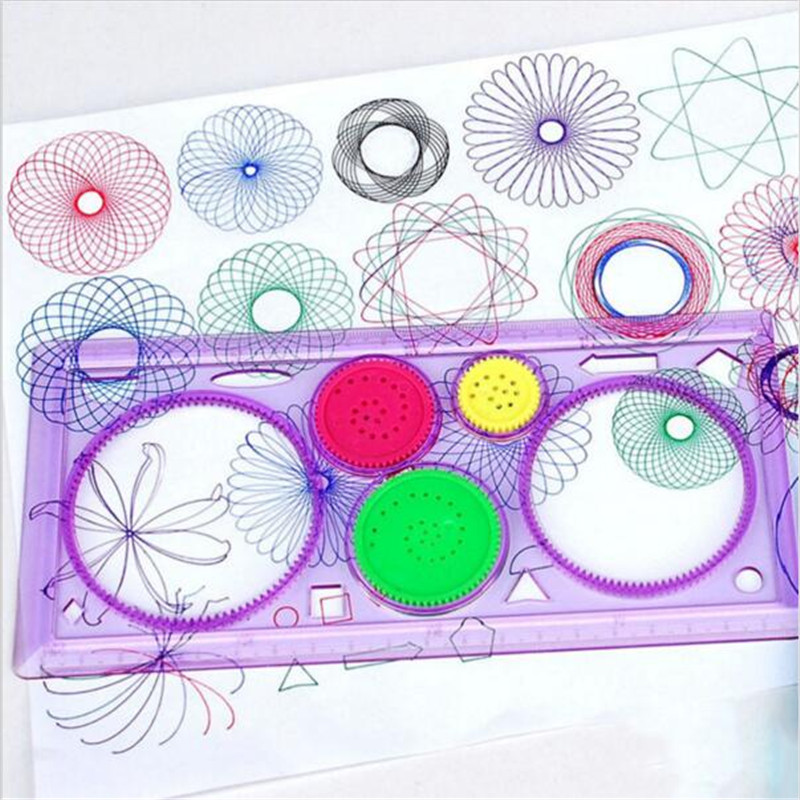 Drawing Toys Set Learning Art Sets For Children Creative Gift Spirograph Geometric Ruler Drafting Tools Stationery For Students