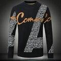 Homens homme carta projeto grosso pulôver das camisolas Do Natal dos homens plus size M ~ 3XL, 4XL #9807