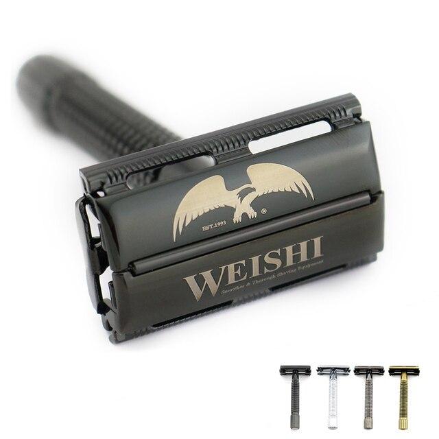 WEISHI butterfly safety razor High quality shaving razor Metal 9306-F Silvery 9306-C Gun color 9306-I Bronze PVD Black NEW