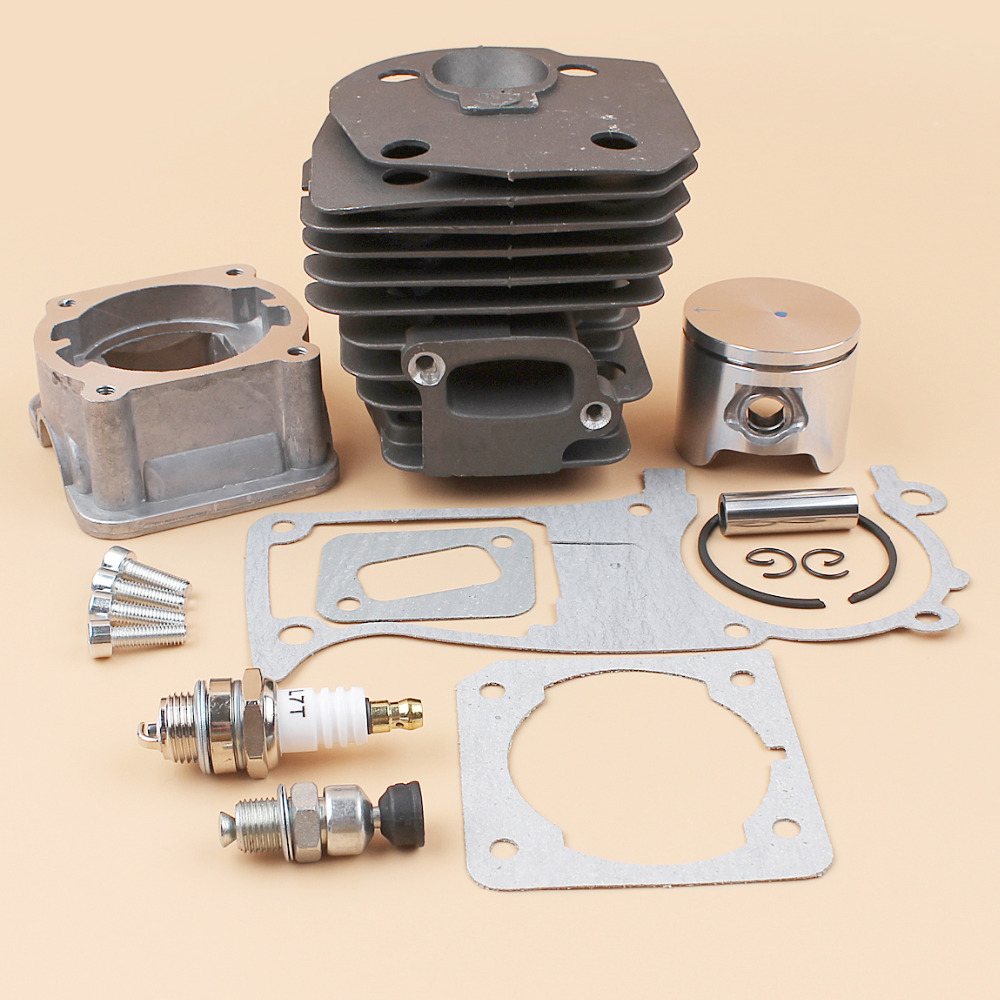 44mm Cylinder Head Piston Pan Cover Gasket Engine Kit For HUSQVARNA 350 340 345 346 346XP 351 353 Chainsaw Motor Parts 44mm cylinder head piston gasket kit for husqvarna 350 346 246xp 351 353 chainsaw 503869971